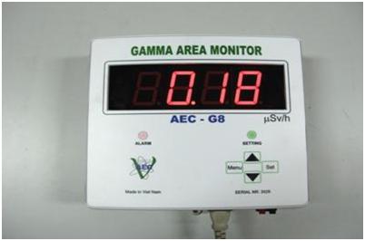 Máy cảnh báo phóng xạ treo tường (Gamma Area Monitor AEC - G7,G8)