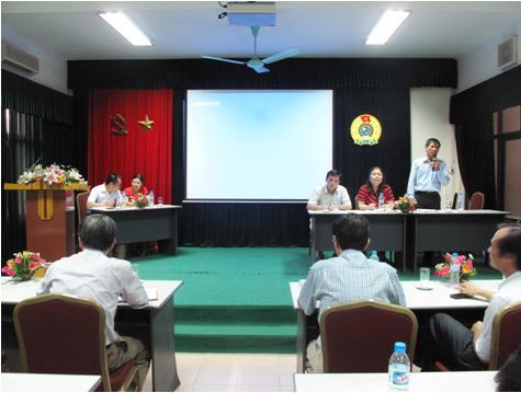 Đại hội Công đoàn Viện Khoa học và Kỹ thuật hạt nhân  khóa VII, nhiệm kỳ 2012-2015
