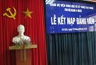 Kết nạp đảng viên mới của Chi bộ Năng lượng hạt nhân - Vật lý hạt nhân