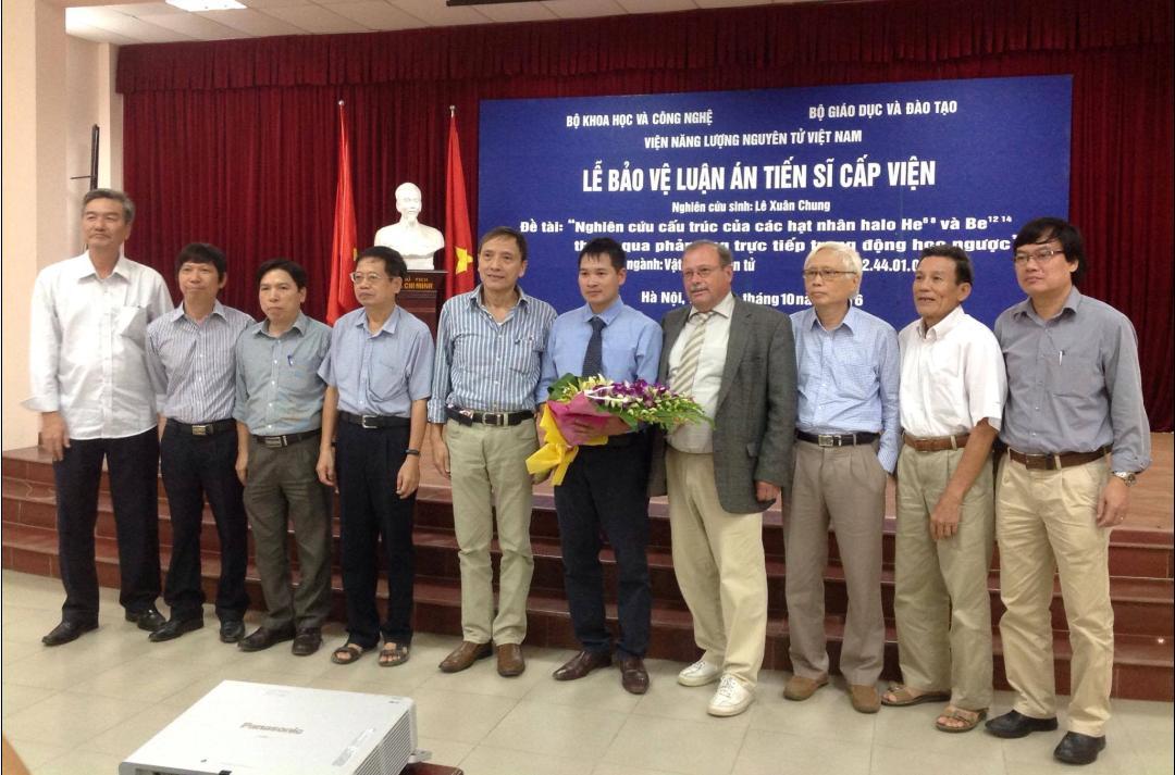Lễ bảo vệ luận án tiến sĩ của nghiên cứu sinh Lê Xuân Chung