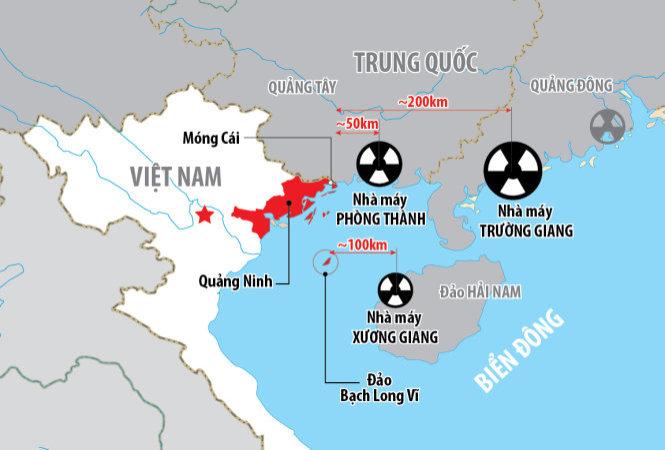 Trung Quốc chưa phản hồi về ba nhà máy điện hạt nhân