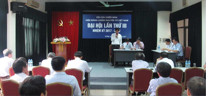 Hội cựu chiến binh Viện Năng lượng nguyên tử Việt Nam tổ chức thành công đại hội lần thứ III, nhiệm 2017-2022