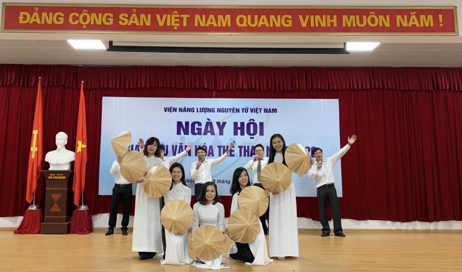 Viện Khoa học và Kỹ thuật hạt nhân tham gia Ngày hội Văn hóa- Thể thao